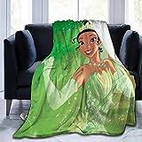 CERYS RILEY Prin-Cess and Fr-og Comfortable Ultra-Soft Micro Fleece Blanket Black 60'' x50