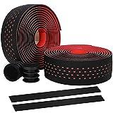 Ysislybin Cinta para manillar de bicicleta, 2 rollos, antideslizante, transpirable, absorción de sudor, cinta autoadhesiva y amortiguadora, color rojo
