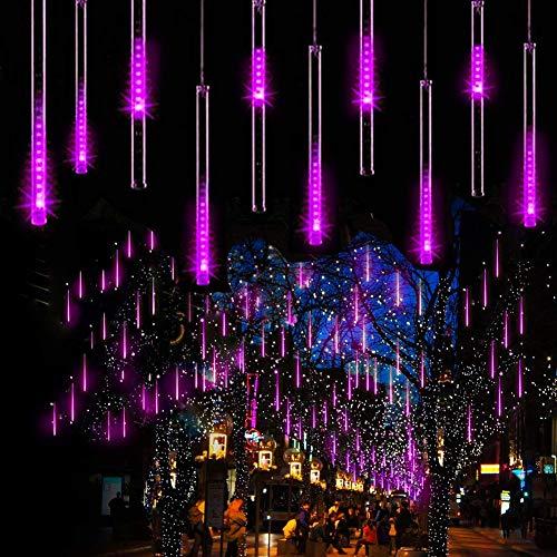 TINGYIN Meteorschauer Regen Lichter, 80cm 8 Röhren 576 wasserdichte LEDs Lichterketten für Weihnachten Halloween Garten Baum Wohnkultur [Energieeffizienzklasse A]