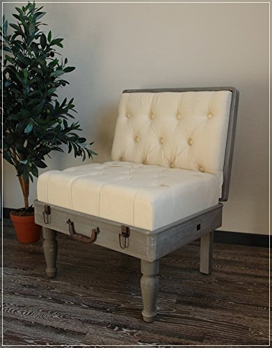 Unbekannt Stuhl Koffer im Shabby Chic