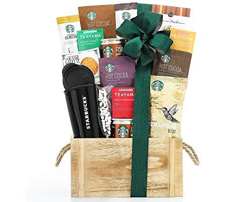 Wine Country Gift Baskets and Teavana Tea Gift Basket by Starbucks Coffee