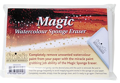 Frisk Esponja de borrar mágica Acuarelas, Paquete de 4 Unidades