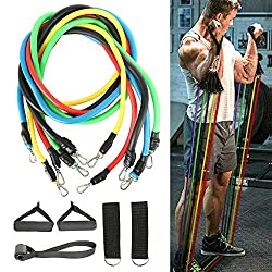 Resistance bands for dry land swim training