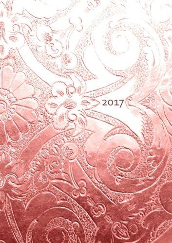 Kalender 2017 - Bronze Ornament: DIN A5 - liniert - 1 Woche pro Doppelseite