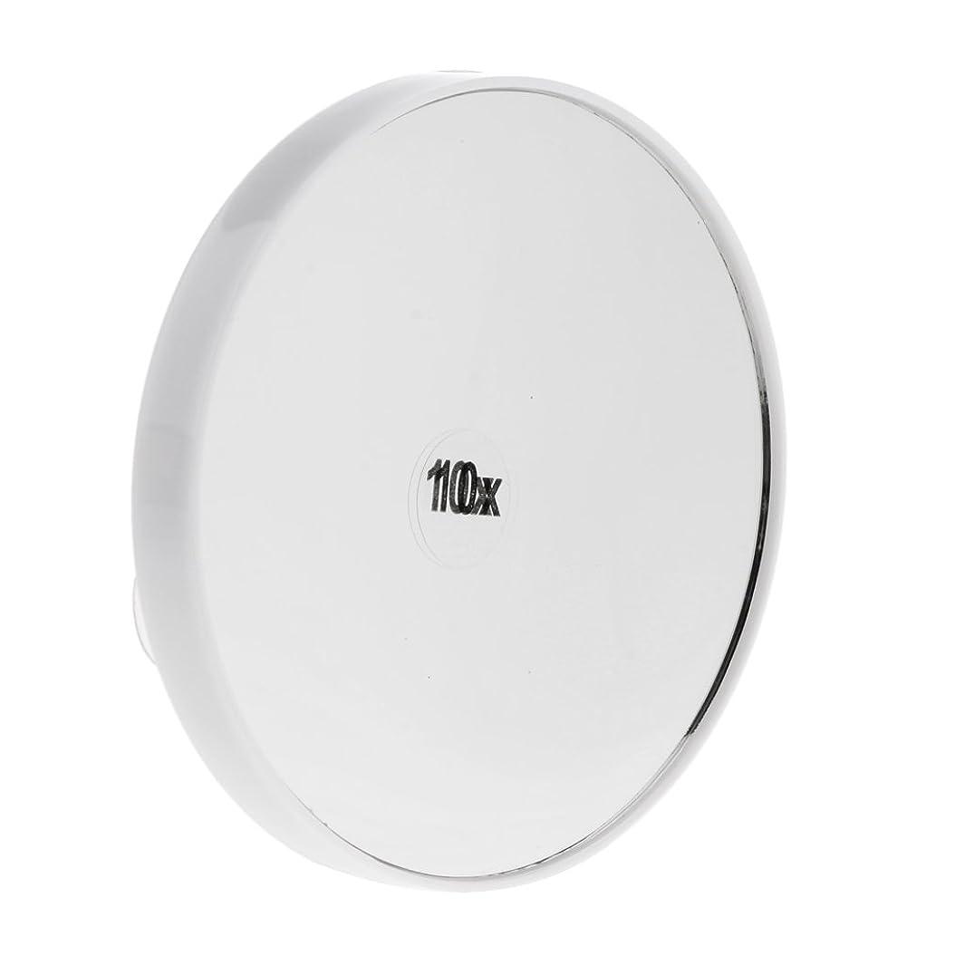 パスゾーン業界Baosity メイクアップミラー メイクミラー 化粧ミラー 化粧鏡 10倍拡大鏡 強力吸盤付き メイクアップ インテリア 2色選べる - 白