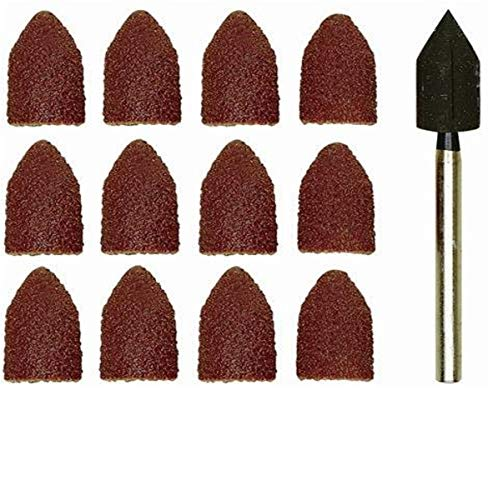 Proxxon 28987 Sanding drum with 10 sanding caps 5 each 80 and 150 grit, brown