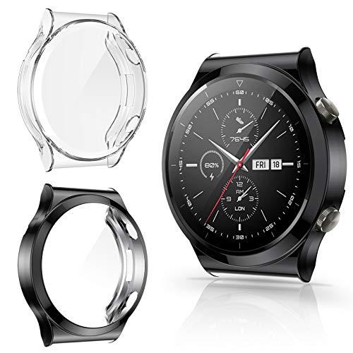 CAVN Protector de Pantalla Compatible con Huawei Watch GT2 Pro, 2-Pack TPU Suave Resistente a los arañazos a Prueba de arañazos Funda Protector para GT2 Pro