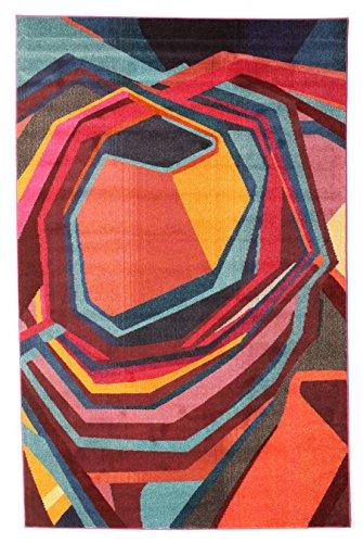 CarpetVista Alfombra Duet, Pelo Corto, 200 x 300 cm, Rectangular, Moderna, Oeko-Tex Estándar 100, Polipropileno, Cocina, Salón, Comedor, Multicolor
