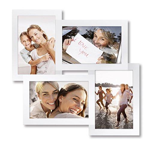 Eurographics Multiframe - 4 White Collage-Bilderrahmen, Holz, weiß, 36 x 36 x 2.6 cm
