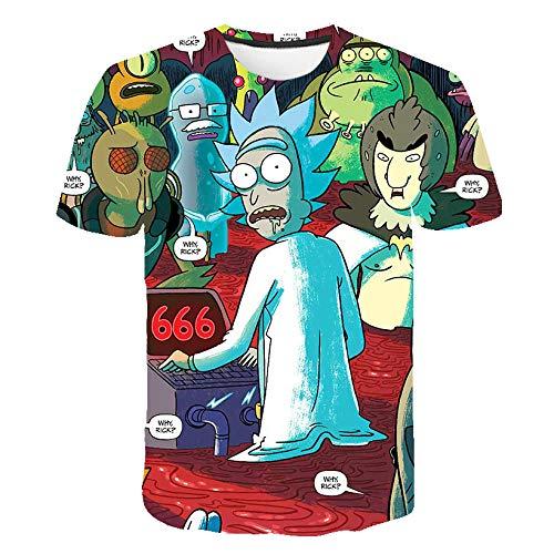 T-fashion shop Unisex Camiseta Estampada T Shirt Funny ,Camiseta Novedad 3D Gráfico Tshits Mangas Cortas de Verano Tops de Tees Informales-8_XS