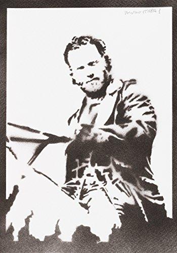 Poster Rick Grimes The Walking Dead Grafiti Hecho