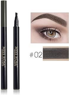 4 Fork Micro-Carving Eyebrow Enhancer Liquid Eyebrow Pencil Waterproof Tint Eyebrows Pen Makeup Eyebrow Tattoo Pen 02 Dark Grey