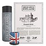happylandgifts® Echtes England Grundstück als einzigartiges Geschenk für Great Britain Fans | Personalisierte Besitzurkunde mit Wunschname | England und London Geschenke | Geschenkideen UK
