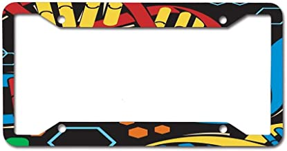 CoolToiletLidCoverCC Custom License Plate,Vanity Sign Auto Tag Car 4 Holes Truck Accessory (12X6)