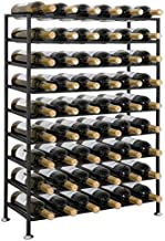 Smartxchoices 54 Bottle Wine Rack Free Standing Floor 9-Tier Tall Wine Bottle Holder Storage Display Rack Home Cellar Iron