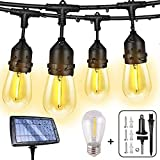 Solar String Lights Outdoor String Lights,FMIX 48FTS Super 4400mah Power Capacity for Over 10 hrs...