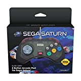 Retro-Bit Official SEGA Saturn Control Pad - Slate Grey