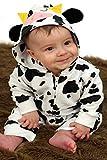 Pelele para bebé de Baby Moo's, diseño de vaca; disfraz de bebé, regalo ideal para niñas o niños mul...