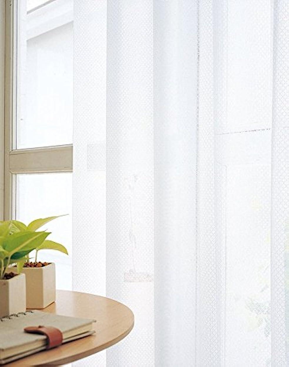 読書寄託お世話になった東リ 格子柄の使いやすいミラーレース カーテン2倍ヒダ KSA60491 幅:100cm ×丈:260cm (2枚組)オーダーカーテン