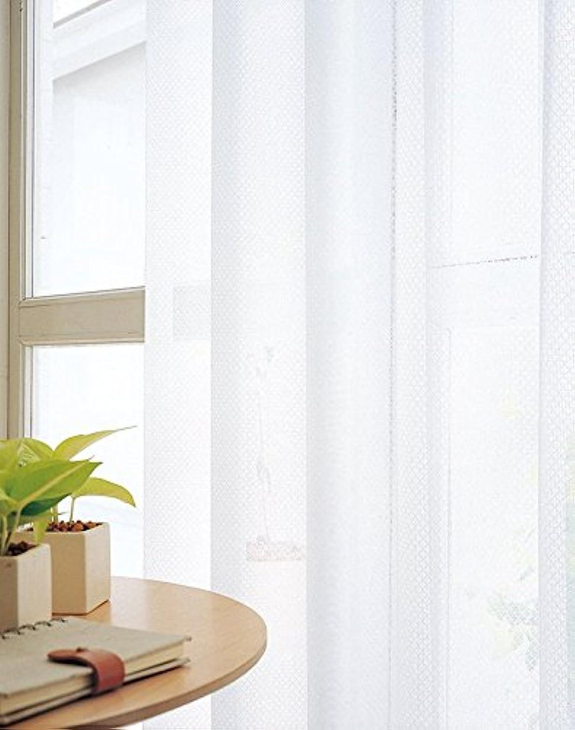 かるうるさい滑りやすい東リ 格子柄の使いやすいミラーレース カーテン2倍ヒダ KSA60491 幅:200cm ×丈:220cm (2枚組)オーダーカーテン