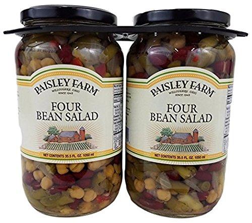 Paisley Farm Natural Four Bean Salad Glass 35.5 fl oz Each 2pack