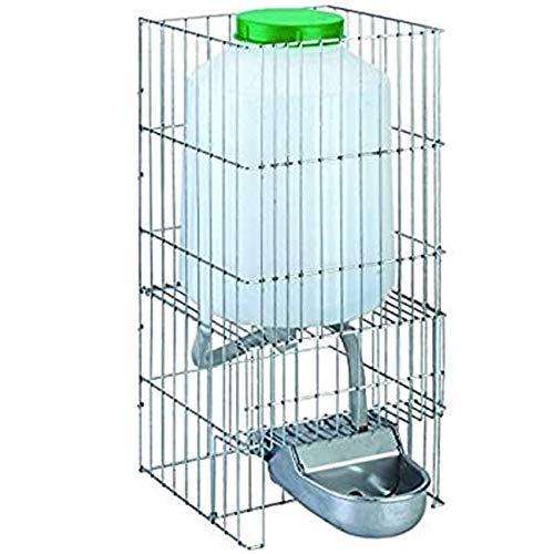 Suministros Infantes Bebedero 8 litros Perros Gatos Animales Fabricado en Aluminio con DEPOSITO. Medidas: 23x33x46 cm