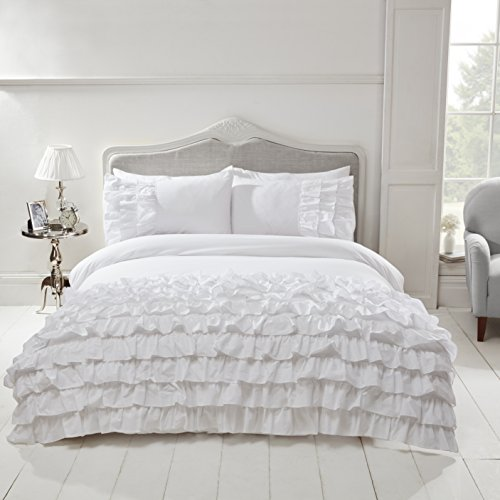 Rapport Flamenco Duvet Set, Double-White, Polyester-Cotton