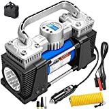 Digital Air Compressor Heavy Duty, 150PSI Fast Tire Inflator for Car...