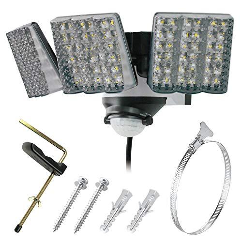 TRIFACE LEDセンサーライト 3灯式 屋外用 SL-EA3000 AC電源 3000ルーメン 取付バンド付属 PSEマーク取得