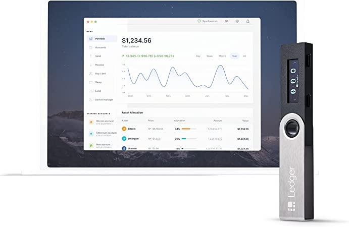 Ledger Nano S - Cryptocurrency Hardware Wallet v1.4 - Bitcoin, Ethereum, Ripple, Altcoins and ERC Tokens