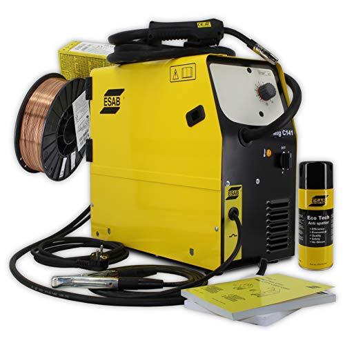 Schweißset - ESAB Origo™ MIG C141 Schweißgerät MIG MAG 130amp MIG/MAG 230V Schweißdraht Anti-Spritzer-Spray