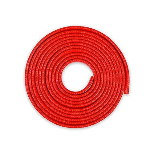 Tuokay 10M Protector de Puerta de Coche, Incorporado U en Forma de Resorte de Acero Protección de Borde Anti Choques Protección de Borde (Rojo)