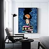 KWzEQ Arte de la Pared Lienzo Figura Pintura Hermosa Mujer Flor Sala de Estar Cuadro de Pared decoración del hogar,60X80cm,Pintura sin Marco