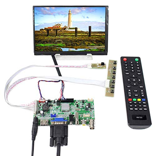 Mini moniteur HDMI VGA 2AV USB VS-V59AV-V1 Carte N070ICG-LD1 Écran LCD, Noir, 1280X800, Full couleur, portable, réponse rapide