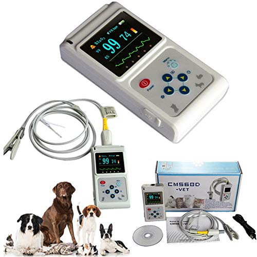CONTEC CMS60D-VET Veterinary Pulse Oximeter Vet SPO2 Pulse Rate Monitor Ear/Tongue SPO2 Sensor