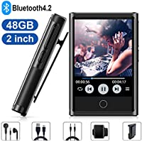 YFFIZQ Bluetooth 4.2 48GB MP3 Music Player With 2'' HD Touch Screen