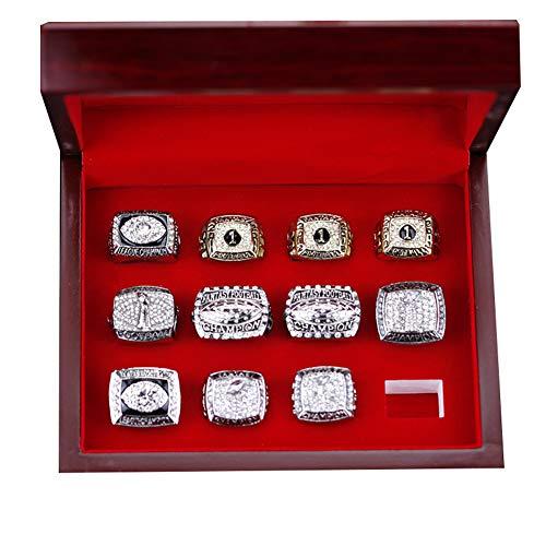 WSTYY 2010-2020 Fantasy Football FFL Championship Ring Meisterschaftsring Set Male-Ringe, Replik-Diamantringe für Männer,with Box,11#