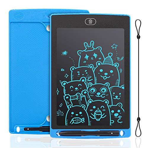 IDEASY Tavoletta LCD da 8,5 Pollici, Tavolo da Disegno Monocolore, Doodle Pad, Lavagna Elettronica LCD per Bambini, Perfetta per Scuola, Casa e Ufficio (Blu)