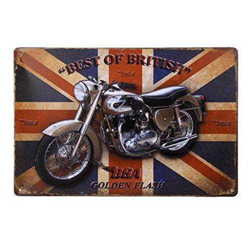 20x30cm Placa Cartel de Pared Patrón Motor con Palabras Metal Decoración para Bar Cafetería #2