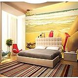 ZLYYH 3D Wallpaper Wandbild,Bikini Beauty Bar Hintergrund,