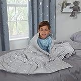 Dreamscene Star Teddy Manta de Forro Polar para niños, para Terapia de sueño, ansiedad, Autismo, Reversible, Suave, Acolchada, 100 x 150 cm, 3 kg