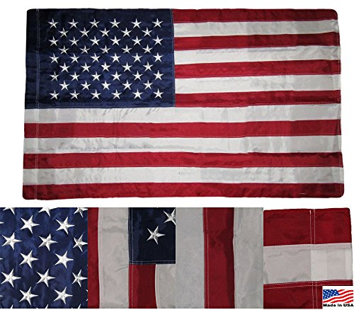 AES 3x5 Embroidered USA American Pole Sleeve Nylon...