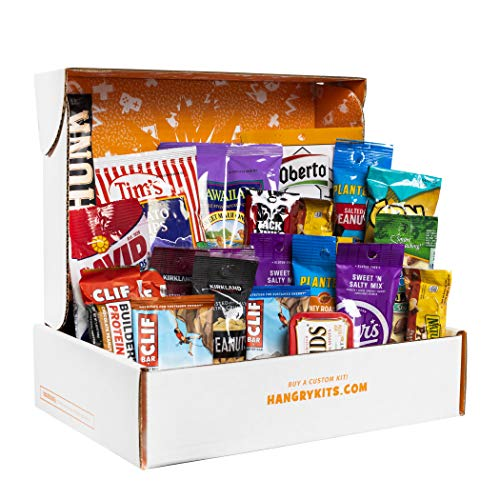 Hangry Kit for Men, Man Kit, Gift for Men, College Care Package, Snack Assortment for What Men Crave, Nuts, Meat, Protein, and More Snacks