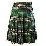 Nice Men Classic Plaid Scottish Kilt Hombres Elegante Falda Escocesa Falda a Cuadros Pantalón Hombres Punk Hip-Pop Style Falda XL plaidgreen3