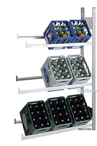 Getränkeregale Lichtgrau mit 3 Ebenen für min. 9 Kästen (Anbauregal)