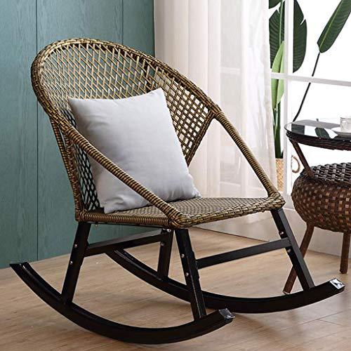 Mecedora de ratán, Silla de jardín de Gravedad Cero, sillón reclinable Impermeable y Transpirable con protección UV para el hogar, jardín al Aire Libre,Verde