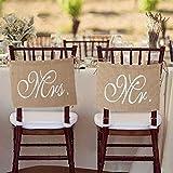 Chris.W Burlap Bows Mr. & Mrs. Burlap Chair...