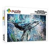 ZTCLXJ 1000 Piezas Puzzle De Madera 1000 Piece Jigsaw Puzzle Animal Ballena para Adultos Y Niños Regalo De Cumpleaños 20 X 15 Pulgada