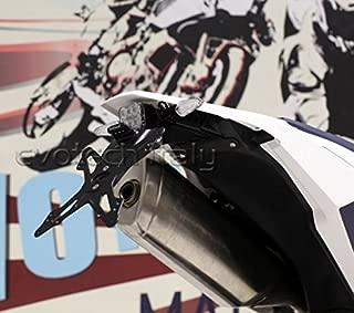 COMPATIBILE CON BENELLI BX 125 PORTATARGA REGOLABILE PER MOTO LAMPA AERO-X 90146 SUPPORTO TARGA OMOLOGATO UNIVERSALE NON SPECIFICO NERO 270X190X35MM