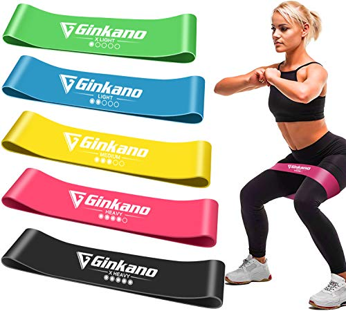 Haquno Resistance Loop Exercise Bands for Home Fitness, Stretching, Physical Therapy, Workout Bands, Pilates Flexbands, Set of 5